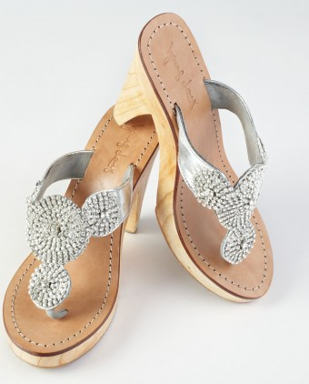 Jewel and Rhinestone Sandals